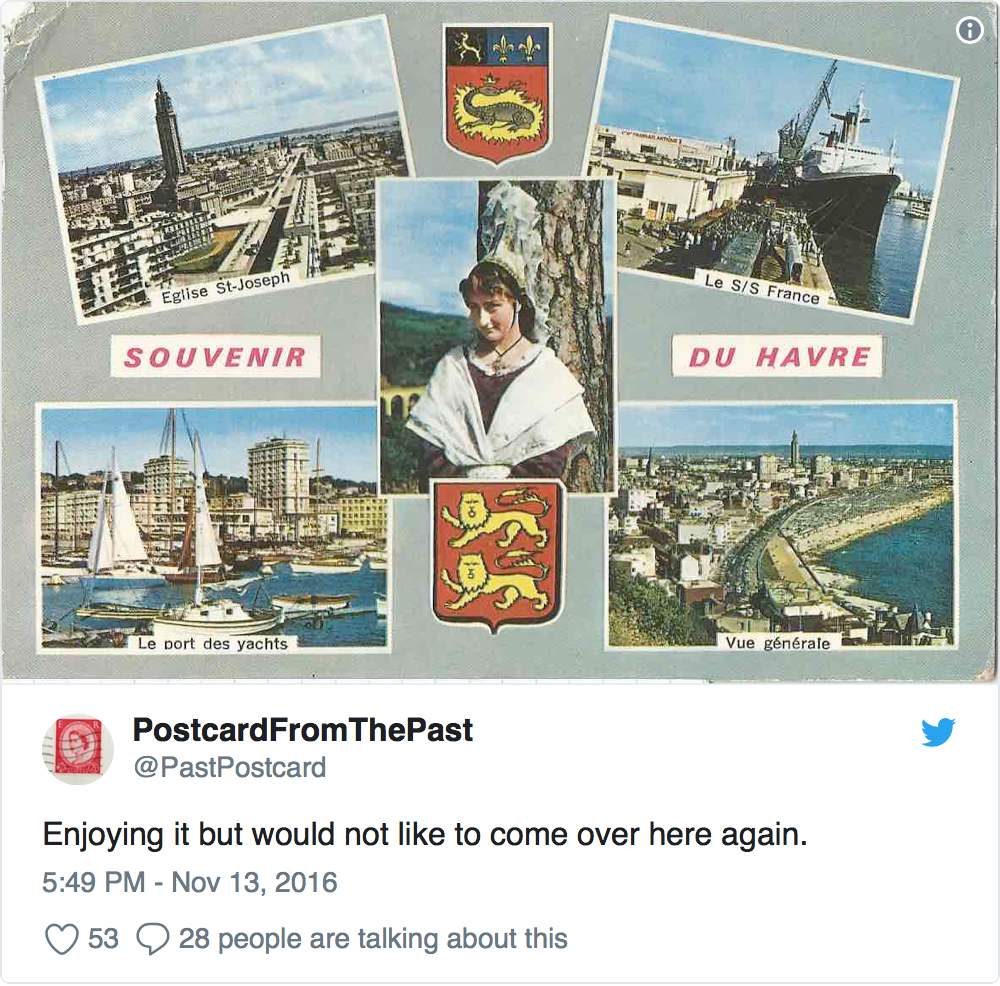 Postcard From the Past, PostcardFromthePast, podcastfromthepast, Podcast from the Past, Tom Jackson, TomJackson, Twitter, @pastpostcard